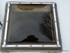 Replacement skylight installation is much better than oem