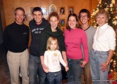 First time together in four years, Christmas 2008