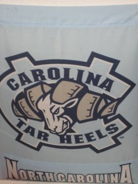 Picture of Tarheels flag from Trolleys Restaurant in St Mary's GA