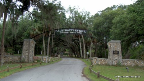 entrance to Dade Battlefield Historic SP