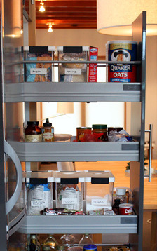picture of IKEA pantry shelves