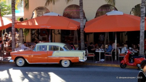 picture of 1955 Chevy at café