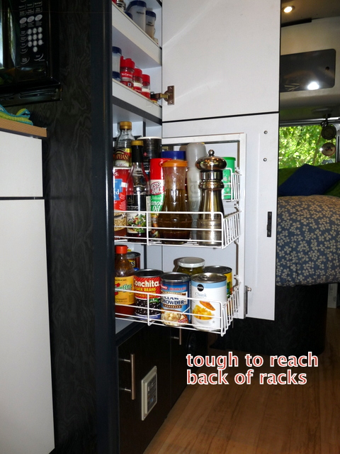 picture of pantry with short slides