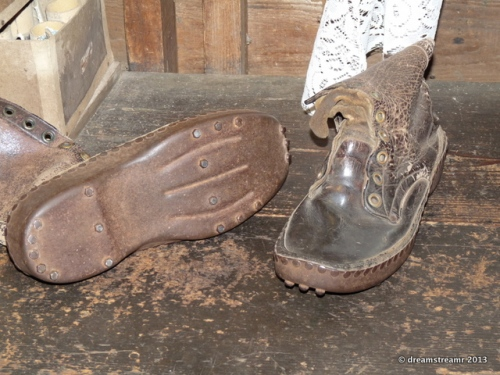 Copper soles kept poisons of city out of his feet