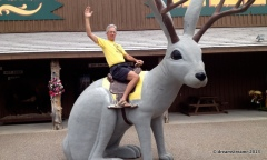 A horse, a fish, and now a jackalope -- Jim's had some rides