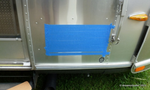 Protect the aluminum before marking the cut lines