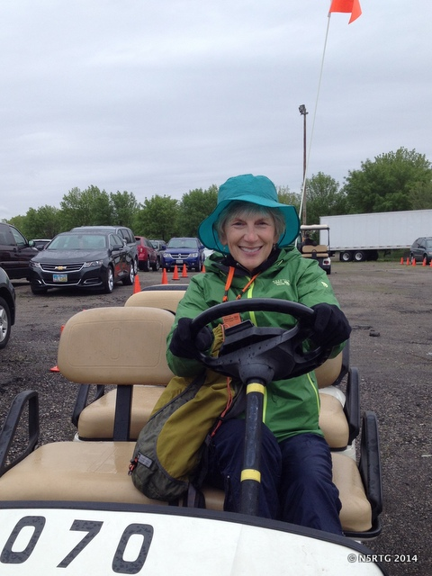 driving a shuttle cart at Hamvention 2014