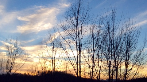 Sunset from Woodland Ridge